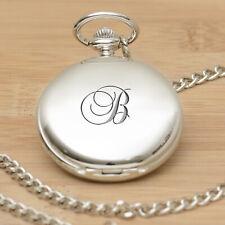 Personalised Initial Pocket Fob Watch Groom Best Man. Wedding Dad Fob Watch Gift