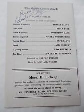 The ORIGINAL Signature Of ROBERTSON HARE on A Golders Green Theatre Programme