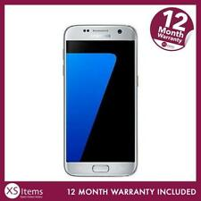 Samsung Galaxy S7 SM-G930F 32GB 12MP Android Smartphone Silver Unlocked ~~