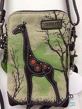 Chala Cell Phone Crossbody Small Convertible Sand Canvas Giraffe New