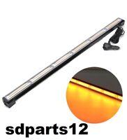 Barra Lampeggiante LED Arancione Emergenza 90 cm Auto Camion 12V 24V 9 Modalità