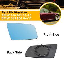 Right Driver Side Wing Mirror Glass HEATED Fit BMW E60 E61 2003-10 E63 E64 04-11