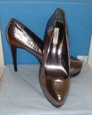 Simply Vera Wang Karina Silver High Heel Platform Shoes Size 9.5.