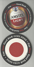 "Lot Of 5  Amstel Light Beer coasters..By Amstel of Holland ""Beer Goes Here"""