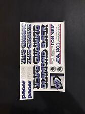 Diamondback Pacer 500 Decals Sticker Set Suit Your Old School BMX Blue