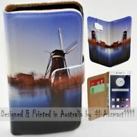 For OPPO Series - Windmill Theme Print Wallet Mobile Phone Case Cover