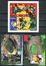 Briefmarken Grenada Grenadines Fußball Nr : 1910 - 1915 + Bl 309 - 310 ** BR187