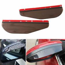 2x Smoke Rear View Side Mirror Flexible Sun Visor Shade Rain Shield Water Guard