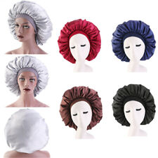 Extra Large Long Hair Care Satin Bonnet Cap Night Sleep Hat Head Wrap Cover