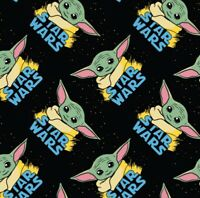 "NEW PRINT IN STOCK! BABY YODA Star Wars Fabric! Sold by the FAT QUARTER 18""x21"""