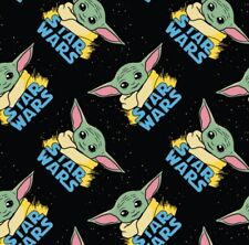 """New Print In Stock! Baby Yoda Star Wars Fabric! Sold by the Fat Quarter 18""""x21"""""""