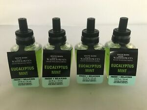 Bath & Body Works EUCALYPTUS MINT Fresh + Relaxing  Wallflowers  Refill Lot of 4