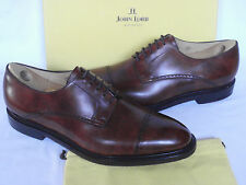 NEW JOHN LOBB DERBY Brown Museum Calf Leather Cap Toe Lace Up Shoes UK 11.5 E