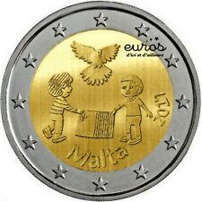 Pièce de 2 euros commémorative MALTE 2017 - Peace, La Paix - UNC - 350 000 ex.