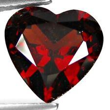 3.55 cts Natural Heart-cut TopFire Deep-Red VVS Rhodolite Garnet (Africa)