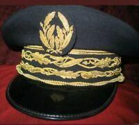 BULLION HAND EMBROIDERED FRENCH POLICE PEAK CAP VISOR HAT NATIONAL DIRECTOR