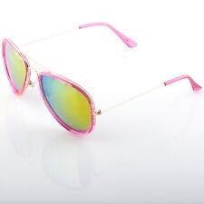 Cute Womens Aviator Sunglasses Mirror Lens and Transparent Frame Variations