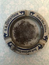 Pabst Blue Ribbon Ashtray, Spin game, H. R. Gustaveson, Vintage, Beer