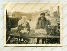 Foto, Wehrmacht, Bevölkerung auf dem Marktplatz in Ostrow, Russland 20906