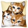 Cat-Family  :Vervaco Chunky Cross Stitch Cushion Kit - 1200127