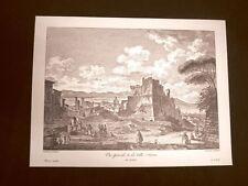 Antica veduta Città di Licata o Alicata Agrigento Sicilia Litografia Saint-Non
