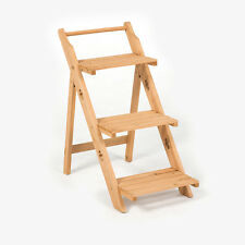 Outdoor Folding 3 Tier FSC Wooden Etagere Greenhouse Plant Stand Pot Display
