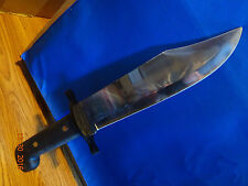 "14 5/8"" WINCHESTER OUTDOORSMAN BOWIE KNIFE A TRUE BEAST RUBBER HANDLE 400 SERIES"