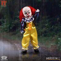 "Mezco Toyz IT 1990 Pennywise The Clown Movie 10"" NIB Living Dead Doll 99120"