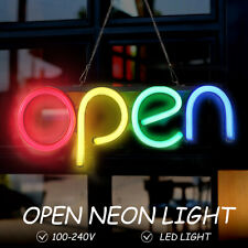 16'' OPEN Neon Sign LED Tube Handmade Visual Artwork Bar Club Wall Decor Light