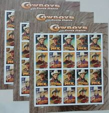 Three Sheets x 20 COWBOYS Of The SILVER SCREEN 44¢ US PS Stamps. Scott 4446-4449