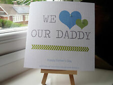 Handmade Personalised Father's Fathers Day Birthday Card Dad Daddy Grandad Uncle