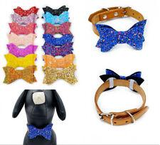 14X Sequin Dogs Bowtie Adjustable Neck Bowknot Pet Cat Collar Charm Accessories