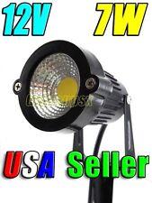 Lot of 6 12V Low Voltage 7W Cool  White LED Landscape Garden Stake Light