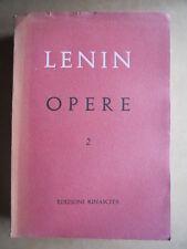 LENIN - Opere complete  volume 2 Edizioni Rinascita 1954   [OGL]
