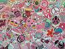 Lot de stickers rose, girly, cute, mignon, autocollants rose, cool, licorne