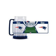 Brand New NFL New England Patriots 16oz Crystal Freezer Mug by Duck House Sports