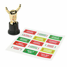 Ugly Sweater Costume Trophies - Stationery - 12 Pieces