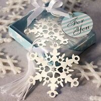 75 Silver Metal Snowflake Bookmark Wedding Bridal Shower Party Gift Favors