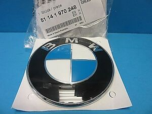 "GENUINE BMW Trunk Hatch Lid Emblem Roundel OEM# 51141970248 Adhesive 3"" DIY"