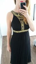 Monsoon SILK Evening Christmas Party Black & Gold Embellished Sequin