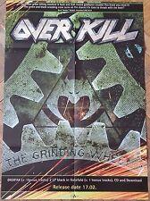 OVERKILL Grinding Wheel BIG POSTER Xentrix/Testament/Nuclear Assault/Sadus/Sodom