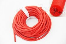 Length 10M Red Rubber Tubing OD6mm For Slingshot Catapult Outdoor Hunting 3060