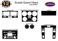 FOR SUZUKI GRAND VITARA Interior Dash Trim Kit 3M 3D 12-Parts Burl Wood 2005