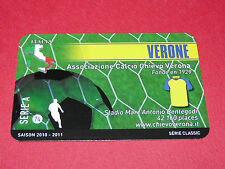 RARE FOOTBALL CARD FOOT2PASS 2010-2011 CHIEVO VERONA VERONE CALCIO SERIE A