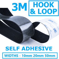 3M Hook and Loop Heavy Duty Stick On Self Adhesive Tape - Widths 10mm 20mm 50mm