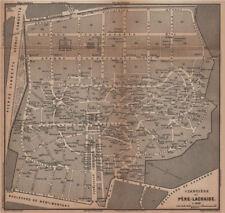 CEMETERY / CIMETIÈRE DU PÈRE-LACHAISE ground plan. Paris 20e carte 1900 map