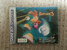 Rayman 3 - Game Boy Advance GBA Instruction Manual Only