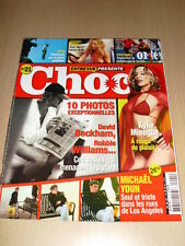Entrevue Présente CHOC N°21 mars 2005 Kylie Minogue Michael Youn Sheryl Crow