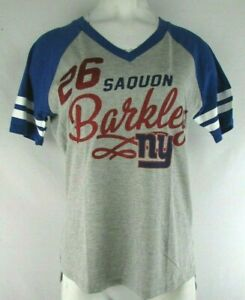"New York Giants #26 ""Barkley"" G-III 4 Her 2 Tone Medium Shirt NFL"