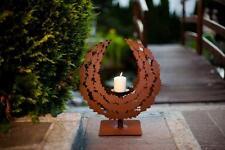 Edelrost Kerzenhalter Kranz Dekoration Wohnen Garten Advent Weihnachten Tisch